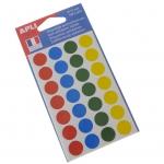 Selvklæbende dots i farver