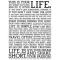 THIS IS YOUR LIFE plakat 46x61 cm