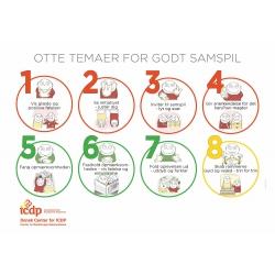 Plakat - otte temaer for godt samspil