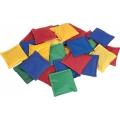 Ærteposer med tal eller 4 stk i forskellige farver