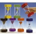 Tid i farver - sæt med 5 timeglas